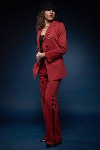 Skræddersyet dame jakkesæt rødt