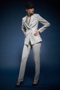 skræddersyet dame jakkesæt flannel